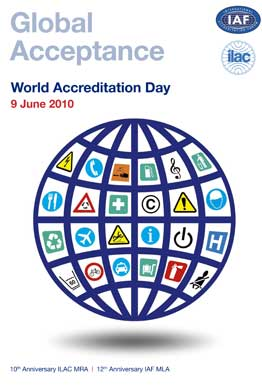 June 9th 2010 will mark World Accreditation Day
